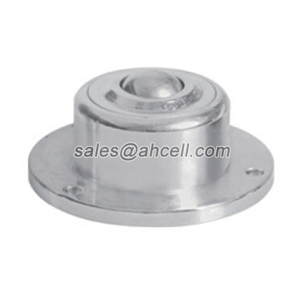 IS-13 50kg Capacity Mini Ball Transfer Unit Flange Steel Ball Roller Caster